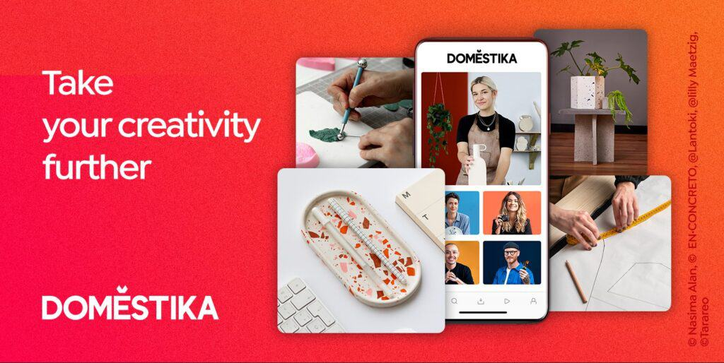 Learn from home with Domestika
