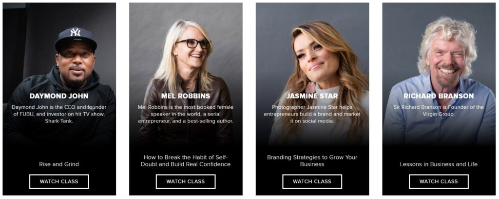 Who teaches CreativeLive courses? Famous award-winning instructors.